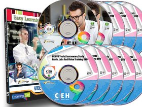 Certified Ethical Hacker CEH v9 Tools And Video Training on 10 DVDs