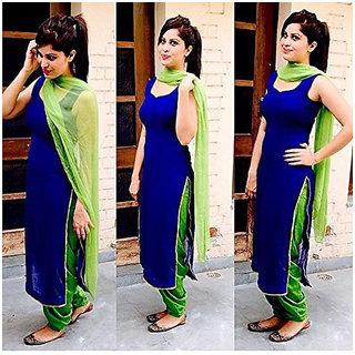 Indian Stylish Designer Punjabi Patiala Suit Salwar Kameez Dress Material Women