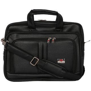 Zifana Black Artificial Leather Classic Laptop Messenger Bag