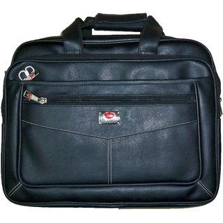 Zifana Black Artificial Leather Laptop Messenger Bag