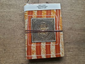 Recycled brass metal handmade paper diary Rajasthani look