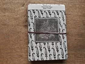 Recycled silver metal handmade paper diary Rajasthani look