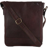 Zifana Unisex Brown Leather Sling Bag For Modern Trend
