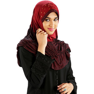 Parvin Fida Pleated Style Stretchable Poly Cotton Hijab