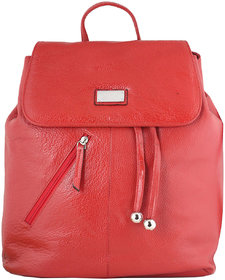 Zifana Red Women'S Leather Sack Bags For Modern Trend