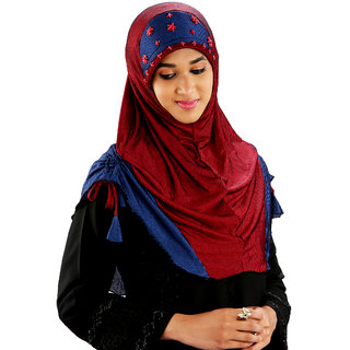 Parvin Abdiah Striped Lace Hijab