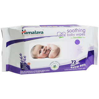 Himalaya Herbal Soothing Baby Wipes - 72 Pieces x 2