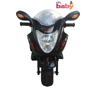 Oh Baby, baby battery Operated Bike Black Color with musical sound And Back Basket for your kids SE-B0B-03