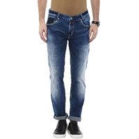 Mufti Men's Blue Skinny Fit Jeans