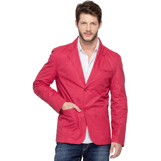 Spykar Red Long Sleeve Jacket For Men