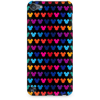CopyCatz Mickie Mulitcolor on Black Premium Printed Case For Apple iPod Touch 6