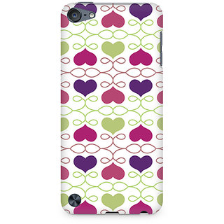 CopyCatz Heart Pattern Premium Printed Case For Apple iPod Touch 6