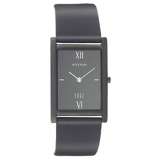 Titan Quartz Black Rectangle Men Watch 1043NL01
