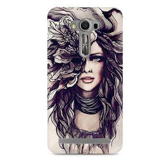 CopyCatz Crazy Hairy Girl Premium Printed Case For Asus Zenfone 2 Laser ZE550KL