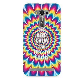 CopyCatz keep calm and focus trippy Premium Printed Case For Asus Zenfone 2 Laser ZE550KL
