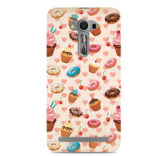 CopyCatz Heart and Cakes Premium Printed Case For Asus Zenfone 2 Laser ZE550KL