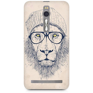 CopyCatz Lion with Glasses Premium Printed Case For Asus Zenfone 2