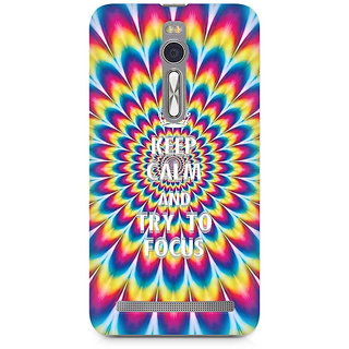 CopyCatz keep calm and focus trippy Premium Printed Case For Asus Zenfone 2