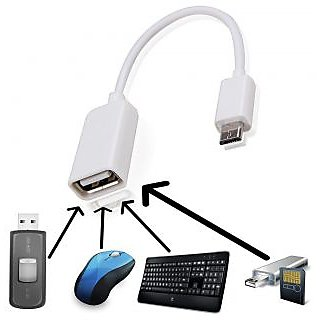 Oorie Discovery S401   Compatible Fast White OTG CABLE By ANYTIME SHOPS
