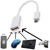 Celkon A119Q Signature HD   Compatible Fast White OTG CABLE By ANYTIME SHOPS