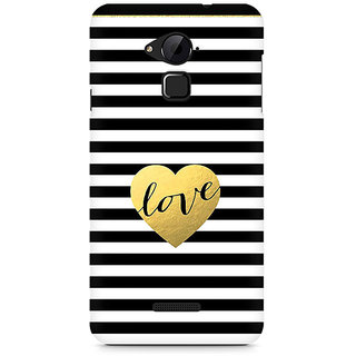 CopyCatz Black And White Gold Love Premium Printed Case For Coolpad Note 3