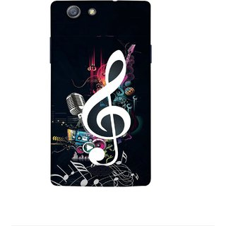 Casotec Music Design 3D Printed Hard Back Case Cover for Oppo Neo 5 (2015)