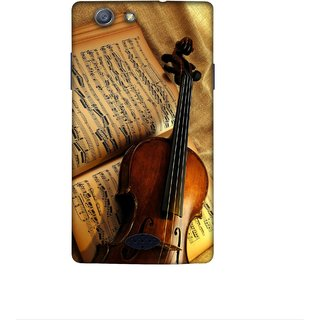 Casotec Violin Books Notes Design 3D Printed Hard Back Case Cover for Oppo Neo 5 (2015)