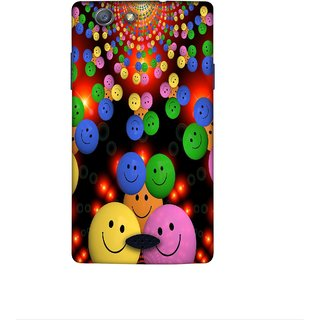Casotec Cheerful Smiley Design 3D Printed Hard Back Case Cover for Oppo Neo 5 (2015)