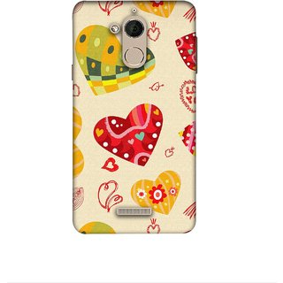 Casotec Hearts Design 3D Printed Hard Back Case Cover for Coolpad Note 5