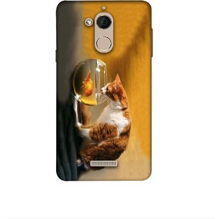 Casotec Cat and Fish Design 3D Printed Hard Back Case Cover for Coolpad Note 5