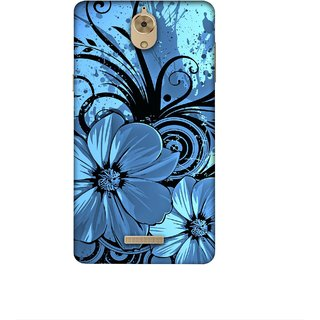 Casotec Cute Floral Blue Design 3D Printed Hard Back Case Cover for Coolpad Mega 2.5D