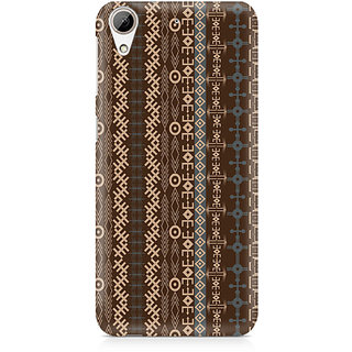 CopyCatz Brown Tribal Strips Premium Printed Case For HTC 626
