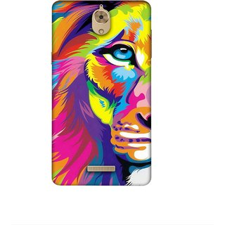 Casotec Lion Design 3D Printed Hard Back Case Cover for Coolpad Mega 2.5D