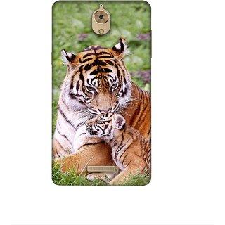Casotec Tiger Design 3D Printed Hard Back Case Cover for Coolpad Mega 2.5D
