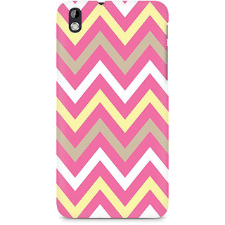 CopyCatz Yellow And Pink Broad Chevron Premium Printed Case For HTC Desire 816
