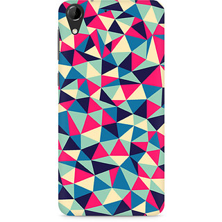 CopyCatz Colorful Triangles Premium Printed Case For HTC Desire 728