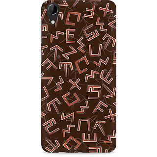 CopyCatz Tribal Alphabets Premium Printed Case For HTC Desire 728