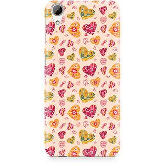 CopyCatz Cute Pink Hearts Premium Printed Case For HTC 626