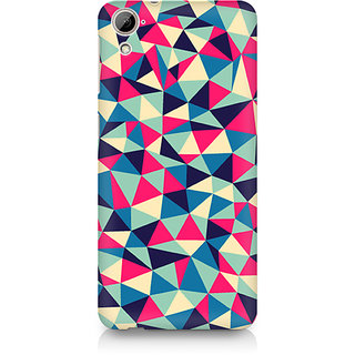 CopyCatz Colorful Triangles Premium Printed Case For HTC Desire 820