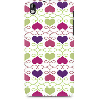 CopyCatz Heart Pattern Premium Printed Case For HTC Desire 816