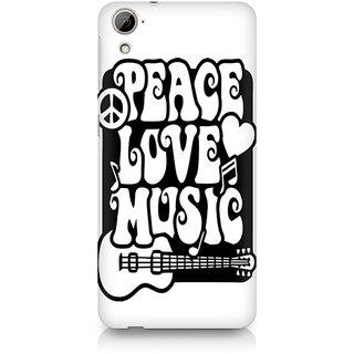 CopyCatz Peace Love Music Premium Printed Case For HTC Desire 820