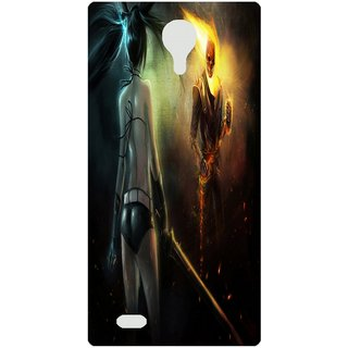 Amagav Back Case Cover for Lyf Flame 7