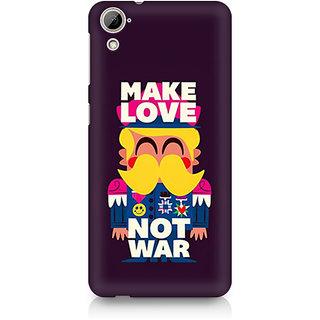 CopyCatz Make Love Not War Premium Printed Case For HTC Desire 820