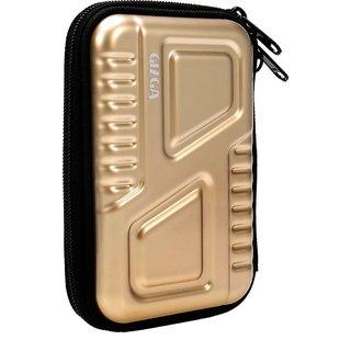 GIZGA External Metallic Armour Hard Drive Disk Case Cover For 2.5 Colour Gold