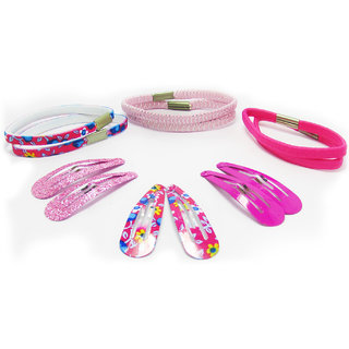Set Of 5 Bright Coloured Hair Clips