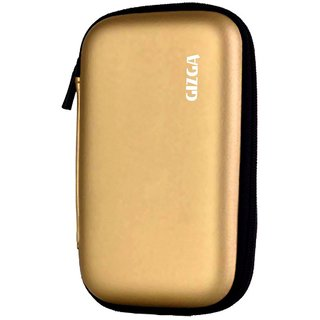 GIZGA External Hard Drive Disk Case Cover Hard Shell Gold For 2.5
