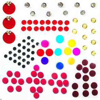 buy loopinz fashion 170 stickers 8 designs designer bindi for girls