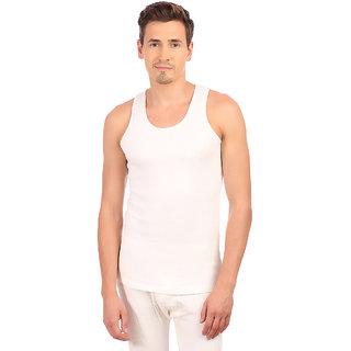 Neva White Plain Thermal Uppers for Men