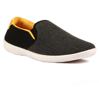 Gasser Black canvas casual men's loafer