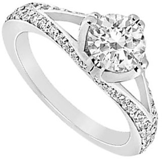 Cubic Zirconia Engagement Ring .925 Sterling Silver 1.00 CT TGW (Option - 4)